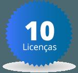 10 licenças