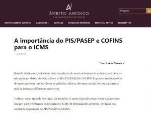 A importância do PIS/PASEP e COFINS para o ICMS