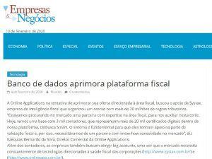 Banco de dados aprimora plataforma fiscal