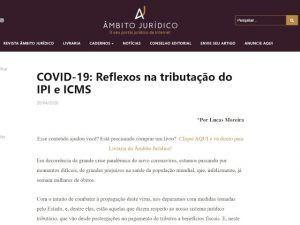 COVID-19: Reflexos na tributação do IPI e ICMS