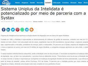 Sistema Uniplus da Intelidata é potencializado por meio de parceria com a Systax