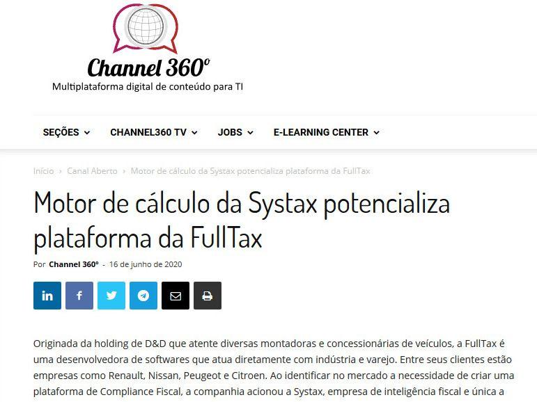 Motor de cálculo da Systax potencializa plataforma da FullTax