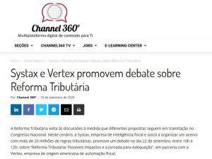 Systax e Vertex promovem debate sobre Reforma Tributária