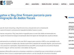 Cloud: Systax e Sky.One firmam parceria para facilitar migração de dados fiscais