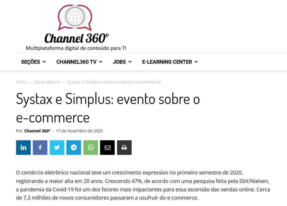 Systax e Simplus: evento sobre o e-commerce