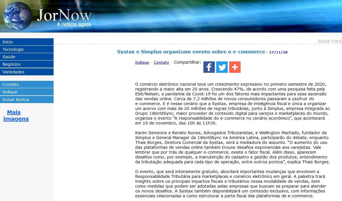 Systax e Simplus organizam evento sobre o e-commerce