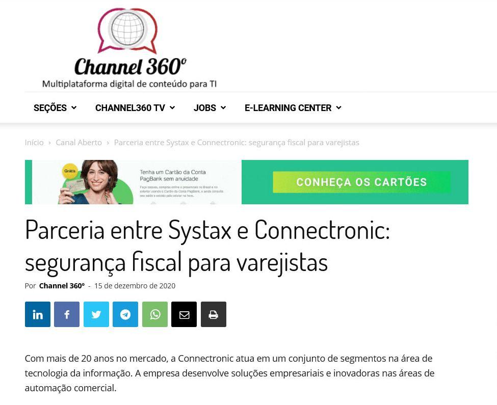 Parceria entre Systax e Connectronic: segurança fiscal para varejistas