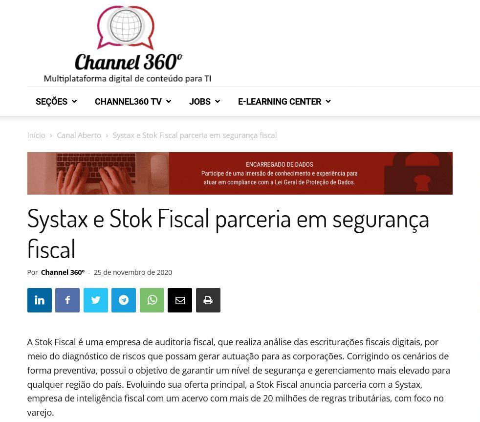 Systax e Stok Fiscal parceria em segurança fiscal