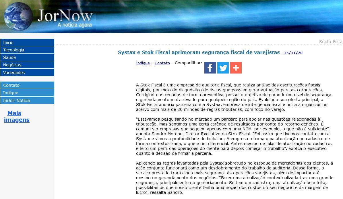 Systax e Stok Fiscal aprimoram segurança fiscal de varejistas