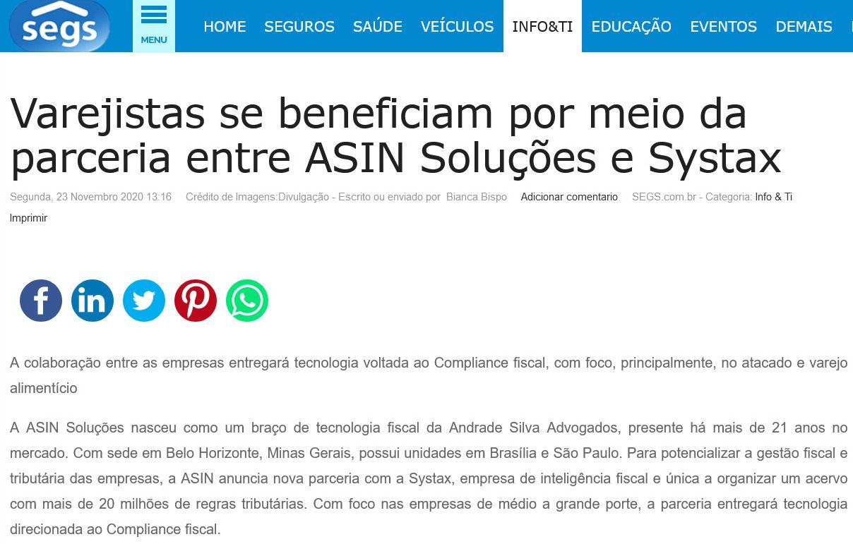Varejistas se beneficiam por meio da parceria entre ASIN Soluções e Systax