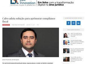 Calvo adota solução para aprimorar compliance fiscal
