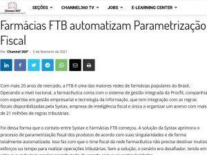 Farmácias FTB automatizam Parametrização Fiscal
