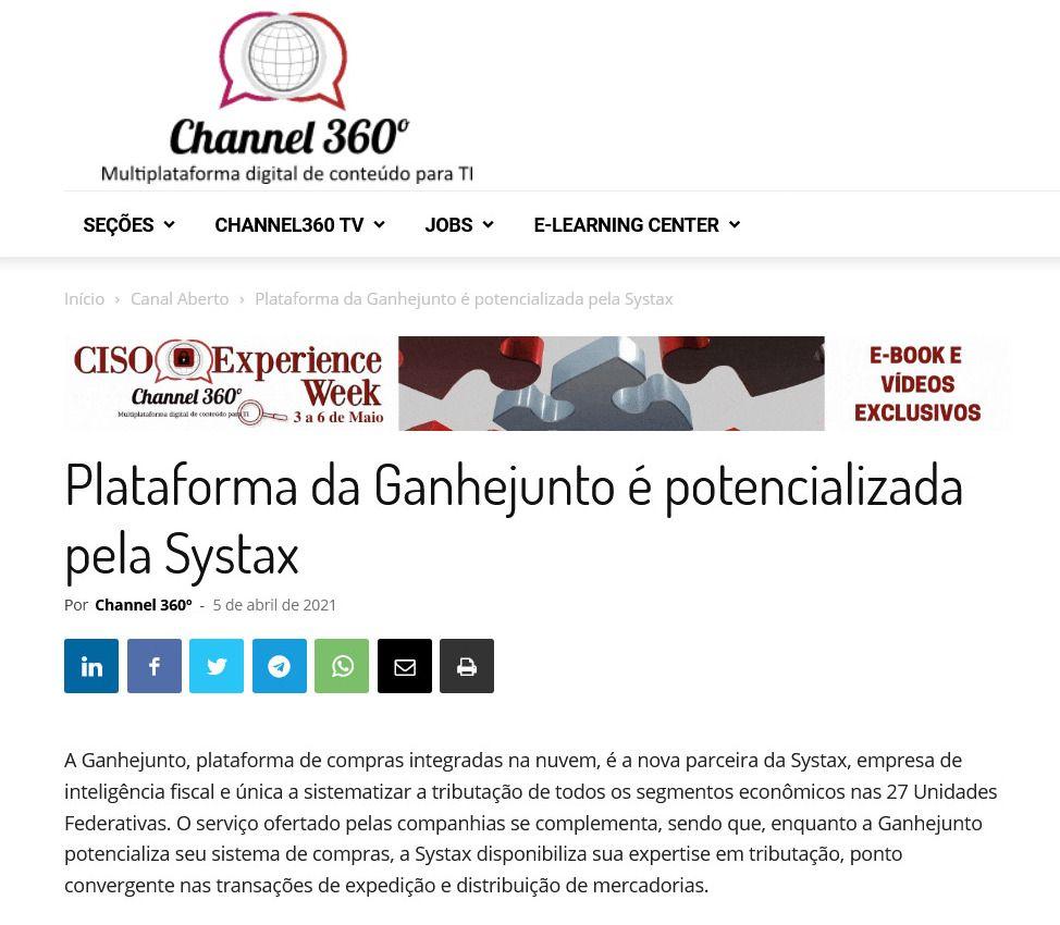 Plataforma da Ganhejunto é potencializada pela Systax