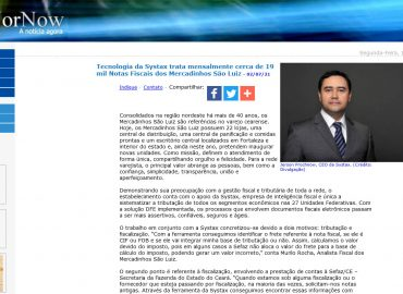 Tecnologia da Systax trata mensalmente cerca de 19 mil Notas Fiscais dos Mercadinhos São Luiz