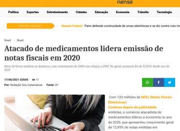 Atacado de medicamentos lidera emissão de notas fiscais em 2020