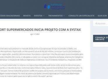 Rede Fort Supermercados inicia projeto com a Systax