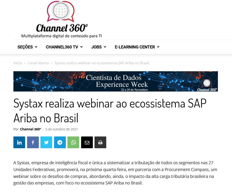 Systax realiza webinar ao ecossistema SAP Ariba no Brasil