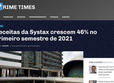 Receitas da Systax crescem 46% no primeiro semestre de 2021